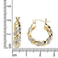 Diamonds by Ellen K. Creolen 925/- Sterling Silber Diamant 0,13ct. - Produktdetailbild 1