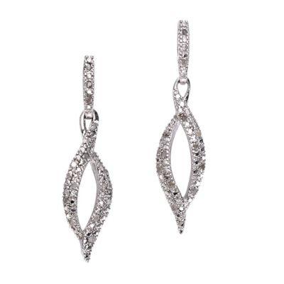 Diamonds by Ellen K. Ohrhänger 925/- Sterling Silber Diamant 0,26ct.