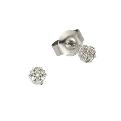 Diamonds by Ellen K. Ohrstecker 585/- Weißgold Diamant 0,055ct.