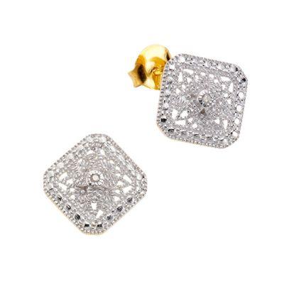 Diamonds by Ellen K. Ohrstecker 925/- Sterling Silber Diamant 0,021ct.