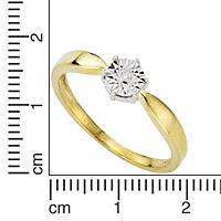 Diamonds by Ellen K. Ring 333/- Gold zweifarbig Brillant 0,01ct. (Größe: 016 (50,5)) - Produktdetailbild 1