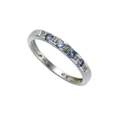 Diamonds by Ellen K. Ring 333/- Weißgold Tansanit Diamant 0,025ct. (Größe: 060 (19,1))