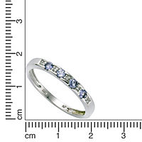 Diamonds by Ellen K. Ring 333/- Weißgold Tansanit Diamant 0,025ct. (Größe: 058 (18,5)) - Produktdetailbild 1