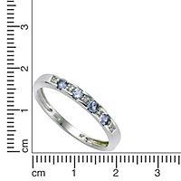 Diamonds by Ellen K. Ring 333/- Weißgold Tansanit Diamant 0,025ct. (Größe: 060 (19,1)) - Produktdetailbild 1