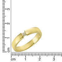 Diamonds by Ellen K. Ring 375/- Gelbgold Brillant 0,05ct. (Größe: 017 (53,5)) - Produktdetailbild 1