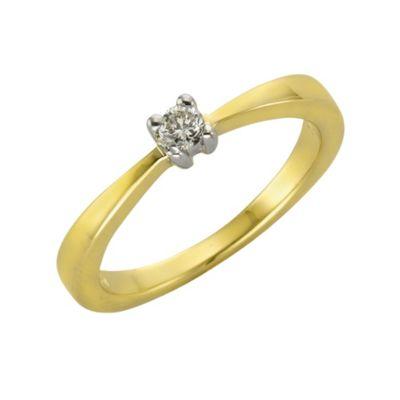 Diamonds by Ellen K. Ring 375/- Gold Brillant 0,10ct. (Größe: 018 (57,0))