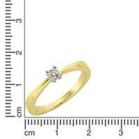 Diamonds by Ellen K. Ring 375/- Gold Brillant 0,10ct. (Größe: 016 (50,5)) - Produktdetailbild 1