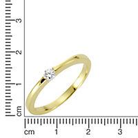 Diamonds by Ellen K. Ring 375/- Gold Brillant weiß Glänzend 0,10ct. (Größe: 016 (50,5)) - Produktdetailbild 1