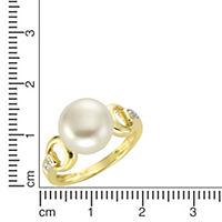 Diamonds by Ellen K. Ring 375/- Gold Perle weiß Diamant 0,02ct. (Größe: 019 (60,0)) - Produktdetailbild 1