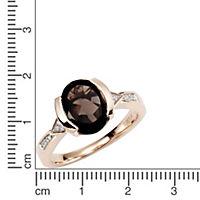 Diamonds by Ellen K. Ring 375/- Gold Rauchquarz mit Diamant 0,04ct. (Größe: 016 (50,5)) - Produktdetailbild 1
