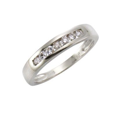 Diamonds by Ellen K. Ring 375/- Weißgold Brillant 0,25ct. (Größe: 018 (57,0))