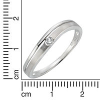 Diamonds by Ellen K. Ring 375/- Weißgold Brillant 0,06ct. (Größe: 056 (17,8)) - Produktdetailbild 1