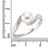 Diamonds by Ellen K. Ring 375/- Weißgold Perle und Diamant 0,04ct. (Größe: 054 (17,2)) - Produktdetailbild 1