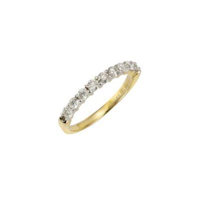 Diamonds by Ellen K. Ring 585/- Gelbgold 9 Brillanten=0,54ct. (Größe: 016 (50,5))