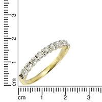 Diamonds by Ellen K. Ring 585/- Gelbgold 9 Brillanten=0,54ct. (Größe: 016 (50,5)) - Produktdetailbild 1