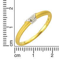Diamonds by Ellen K. Ring 585/- Gold bicolor Brillant 0,01ct. (Größe: 017 (53,5)) - Produktdetailbild 1