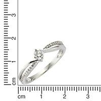 Diamonds by Ellen K. Ring 585/- Gold Brillant weiß Glänzend 0,25ct. (Größe: 018 (57,0)) - Produktdetailbild 1