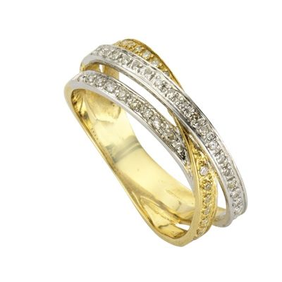 Diamonds by Ellen K. Ring 585/- Gold Diamant 0,24ct. (Größe: 017 (53,5))