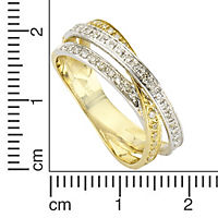 Diamonds by Ellen K. Ring 585/- Gold Diamant 0,24ct. (Größe: 017 (53,5)) - Produktdetailbild 1
