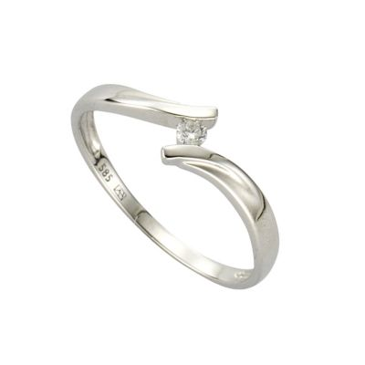 Diamonds by Ellen K. Ring 585/- Weißgold Brillant 0,06ct. (Größe: 017 (53,5))