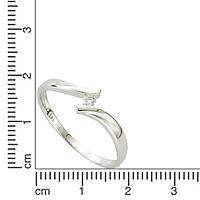 Diamonds by Ellen K. Ring 585/- Weißgold Brillant 0,06ct. (Größe: 017 (53,5)) - Produktdetailbild 1