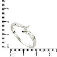 Diamonds by Ellen K. Ring 585/- Weißgold Brillant 0,06ct. (Größe: 018 (57,0)) - Produktdetailbild 1