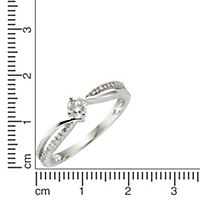 Diamonds by Ellen K. Ring 585/- Weißgold Diamant 0,25ct. (Größe: 016 (50,5)) - Produktdetailbild 1