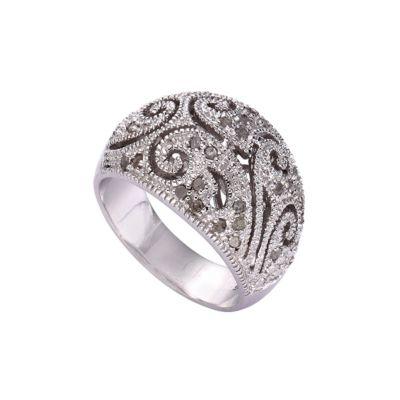 Diamonds by Ellen K. Ring 925/- Sterling Silber Diamant 0,25ct. (Größe: 054 (17,2))