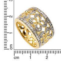 Diamonds by Ellen K. Ring 925/- Sterling Silber Diamant weiß bicolor 0,20ct. (Größe: 021 (66,1)) - Produktdetailbild 1