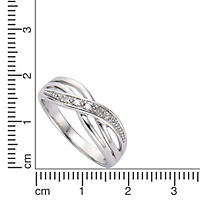 Diamonds by Ellen K. Ring 925/- Sterling Silber Diamant 0,01ct. (Größe: 052 (16,6)) - Produktdetailbild 1