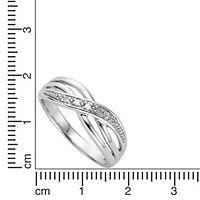 Diamonds by Ellen K. Ring 925/- Sterling Silber Diamant 0,01ct. (Größe: 058 (18,5)) - Produktdetailbild 1