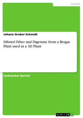 Dibutyl Ether and Digestate from a Biogas Plant used in a 3D Plant, Johann Gruber-Schmidt