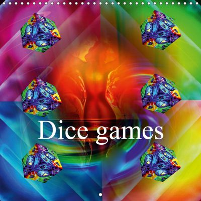 Dice games (Wall Calendar 2019 300 × 300 mm Square), Walter Zettl