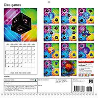 Dice games (Wall Calendar 2019 300 × 300 mm Square) - Produktdetailbild 13
