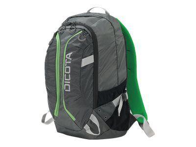 DICOTA Backpack ACTIVE 39,6cm 14-15,6Zoll grau/limette