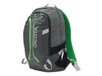 DICOTA Backpack ACTIVE 39,6cm 14-15,6Zoll grau/limette - Produktdetailbild 1