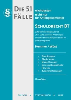 Die 51 wichtigsten Fälle Schuldrecht BT, Karl-Edmund Hemmer, Achim Wüst