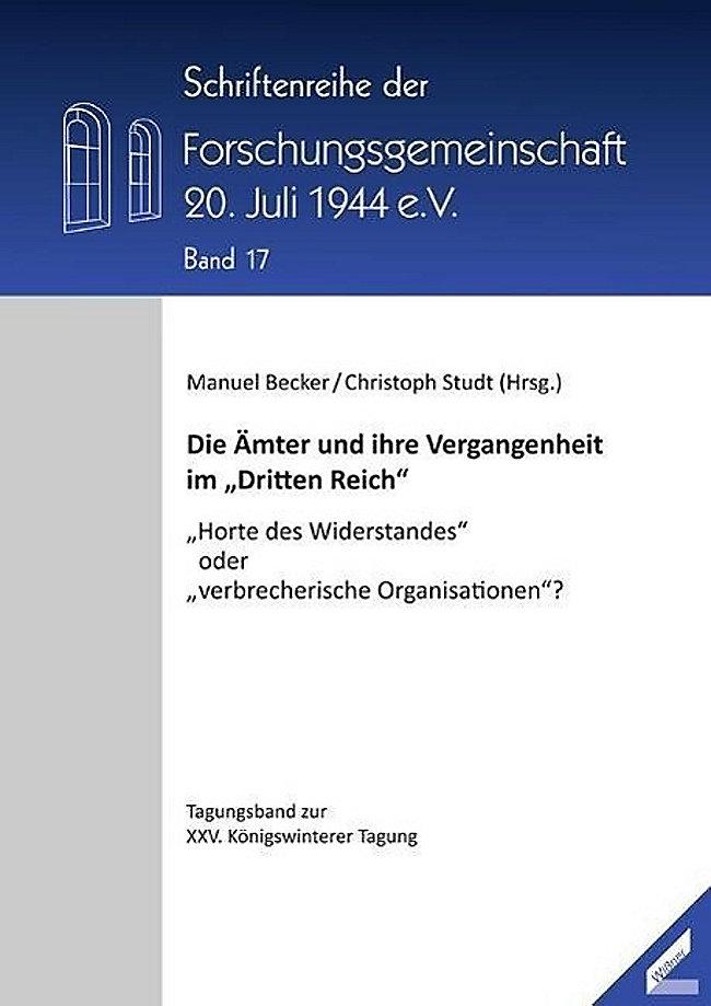 Die Amter Und Ihre Vergangenheit Im Dritten Reich Buch Portofrei