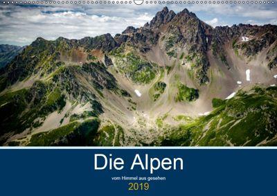 Die Alpen vom Himmel aus gesehen (Wandkalender 2019 DIN A2 quer), Alain Gaymard