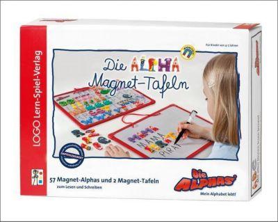 Die Alphas, Die Alpha-Magnet-Tafeln (Kinderspiel), Claude Huguenin, Oliver Dubois