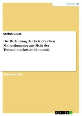 Die Bedeutung der betrieblichen Mitbestimmung aus Sicht der Transaktionskostenökonomik, Stefan Glusa