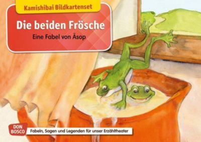 Die beiden Frösche. Eine Fabel von Äsop. Kamishibai Bildkartenset - Monika Lefin-Kirsch |