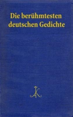 Die berühmtesten deutschen Gedichte, HANS BRAAM (HG.)