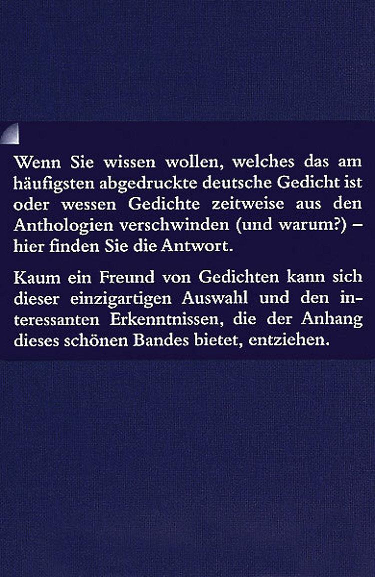 Die Berühmtesten Deutschen Gedichte Buch Versandkostenfrei