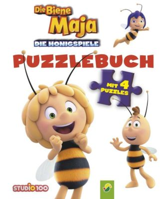 Die Biene Maja - Die Honigspiele Puzzlebuch, Lena Steinfeld