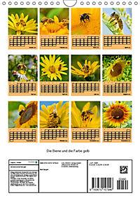 Die Biene und die Farbe gelb (Wandkalender 2019 DIN A4 hoch) - Produktdetailbild 13