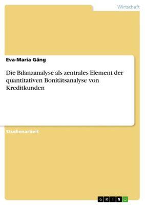 Die Bilanzanalyse als zentrales Element der quantitativen Bonitätsanalyse von Kreditkunden, Eva-Maria Gäng