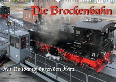 Die Brockenbahn - Mit Volldampf durch den Harz (Wandkalender 2019 DIN A2 quer), Martina Berg