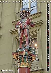 Die Brunnenfiguren von Bern (Tischkalender 2019 DIN A5 hoch) - Produktdetailbild 4