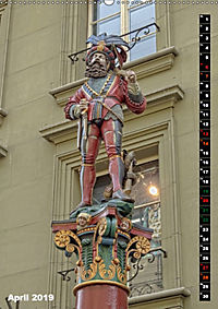 Die Brunnenfiguren von Bern (Wandkalender 2019 DIN A2 hoch) - Produktdetailbild 4